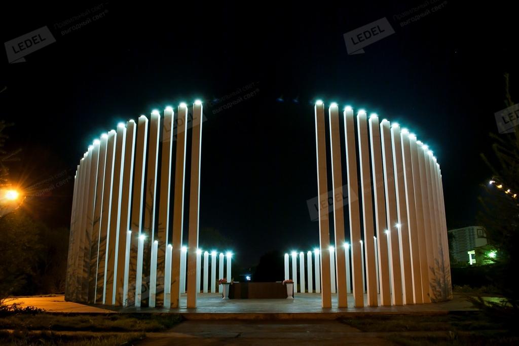 Осветљење спомен у Перм